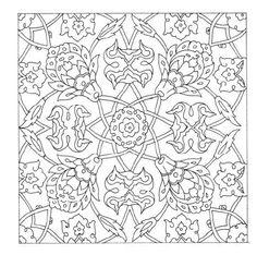 Patrons et motifs ottomans - Patterns , Motifs , Ornaments 2 Islamic Patterns, Tile Patterns, Textures Patterns, Pattern Drawing, Pattern Art, Pattern Design, Design Design, Mandala Coloring Pages, Coloring Book Pages