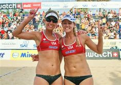 Jen Kessy and April Ross--Women's Sand Volleyball Silver Medalists