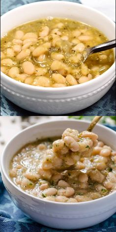 These tomatillo poblano white beans are a warm stew of perfectly creamy beans tart tomatillos spicy poblano pepper onion cumin and oregano. They can be made in less than 40 minutes in your Instant Pot. A vegan healthy and easy way to prepare beans Vegan Mexican Recipes, Healthy Recipes, Whole Food Recipes, Vegetarian Recipes, Cooking Recipes, Vegan Recipes Videos, Vegetarian Barbecue, Barbecue Recipes, Vegetarian Cooking