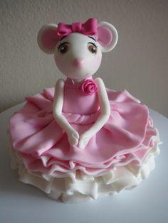 Sitting Angelina Ballerina Cake Topper by Satoko http://cake.likebutterent.com