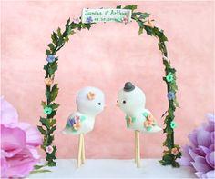 Love birds wedding cake topper -