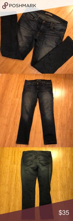 "J Brand | Pencil Jeans Some stretch to them, GUC, no damage. In ""rad"" wash which is a really pretty deep blue rinse with fading at center of legs. J Brand Jeans Skinny"