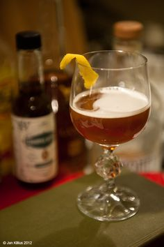 Vacation  1 oz Landy Cognac  1 oz Bitter Truth Pimento Dram  0.5 oz Strega  0.25 oz Honey Syrup  2 dashes Scrappy's Cardamom Bitters  0.25 oz lemon juice    Shake well with ice and strain into a cocktail glass. Garnish with a lemon peel and serve up.