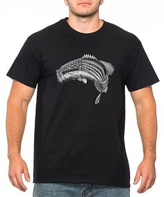 Another great find on #zulily! Black American Flag Fish Tee - Men's Regular #zulilyfinds