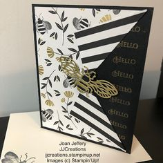 J J Creations, Stampin up Stampin up cards, Honey Bee Golden Honey, Bee Cards, Stamping Up, Honeycomb, Stampin Up Cards, Color Schemes, Card Making, Greeting Cards, Hello Hello