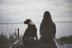 a girl and her dog  | #desiremap #belonging #rooted