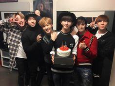 U-Kiss celebrating Kiseop's birthday