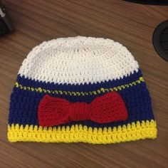A personal favorite from my Etsy shop https://www.etsy.com/listing/273723456/donald-duck-inspired-beanie