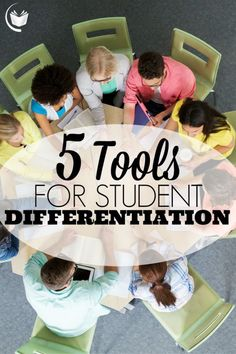 The 5 tools for student differentiation to help differentiate instruction are Class Dojo, QR Codes, Survey Monkey, SIOP Objectives Wiki Spaces Classroom.
