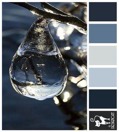 Frozen drop - blue, grey, steel, slate - Designcat Colour Inspiration Pallet