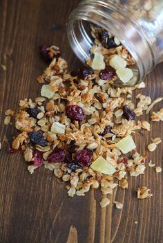 Crock Pot Honey Granola with dried fruit recipe