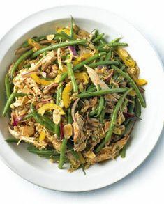 Low FODMAP Recipe and Gluten Free Recipe - Shredded chicken, green bean salad with paprika & lemon http://www.ibssano.com/low_fodmap_recipe_chicken_green_bean_lemon_paprika.html