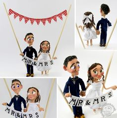 This wedding cake topper is adorable!