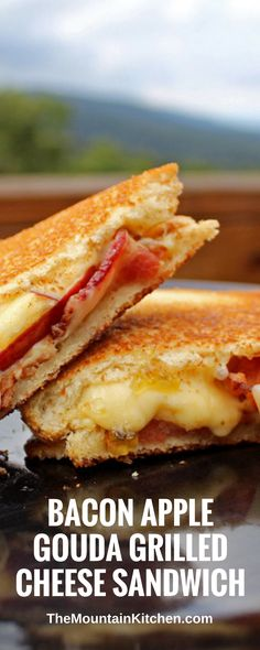 Perfect for fall, these bacon, apple and Gouda grilled cheese sandwiches with jalapeno jelly have the perfect balance of smokiness, sweet and heat.