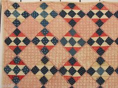 19TH C. PATRIOTIC QUILT FOR DISPLAY, MASTERFUL USE OF NINEPATCH, POOR CONDITION   eBay, auldstf