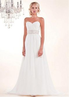 BRILLIANT CHIFFON A-LINE STRAPLESS SWEETHEART NECKLINE WEDDING DRESS LACE BRIDESMAID PARTY COCKTAIL GOWN FORMAL BRIDAL
