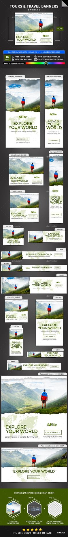 Tours & Travel Banners - Banners & Ads Web Elements Download here : https://graphicriver.net/item/tours-travel-banners/19349541?s_rank=142&ref=Al-fatih