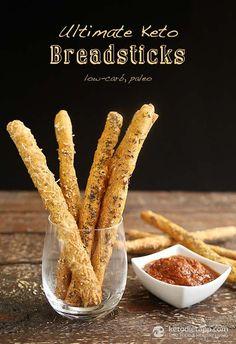 Ultimate Keto Breadsticks (low-carb, paleo)