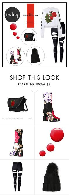 """Untitled #944"" by bharmon110957 ❤ liked on Polyvore featuring MSGM, Topshop, WithChic and Off-White"