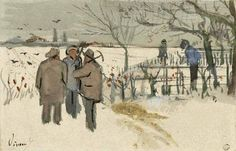 Vincent Van Gogh「Miners in the Snow. Winter」(1882)