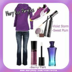 Purple!  No outfit is complete without Mary Kay!   SHOP:  www.marykay.com/vcarretta