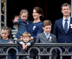 Princess Mary, Prince Frederik, and their children, Christian, Isabella, Vincent and Josephine, looks picture perfect in matching blues and greys. Princesses Isabella and Josephine wore matching tweed dresses.
