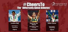 They work hard to achieve their goals and they don't blame anyone for their difficulties. Congratulations to all these super athletes who teach us that no matter what our situation in life is, passion and hard work can get us to our goals. Thank you for having made us so proud at the Commonwealth games 2014!  #MaraMentor #Inspiration #Cheersto