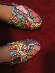 I bought a pair of TOMS during an event at my local mall. They had artists painting and desiging shoes at Journey's and Shii, but I brought mine home and painted them myself!