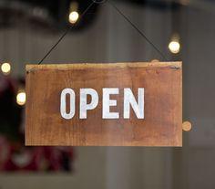 LANDO Restaurant (Identity, Print) by Lo Siento Studio, Barcelona #open #sign