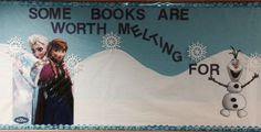 Frozen bulletin board-Some books are worth melting for