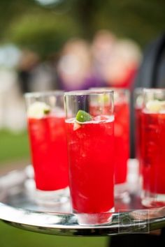Fiesta drinks for the guests on arrival   Credit:Photography by Christian Oth Studio / christianothstudio.com #WedPin #AcademyLive #Wedding