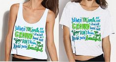 What Makes You Beautiful Lyric Shirt. YES PLEASE.