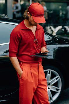 look masculino vermelho inverno 2018