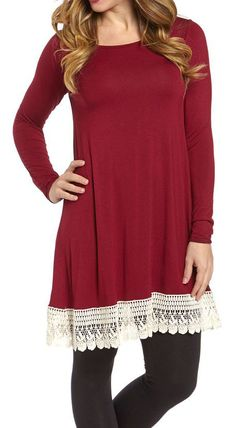 Mi-In Wine Knit Tunic