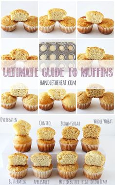 Ultimate Guide to Muffins - What makes muffins soft. tender. tough. crumbly. or tall! Click to find out!