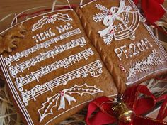 Silent Night Gingerbread Postcard - Czech