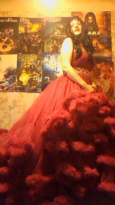 Red Cloud dress crossdressing