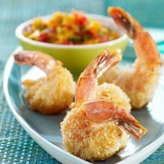 Baked Coconut Shrimp: Serve these healthy coconut shrimp as a first course or as an appetizer for your next party.
