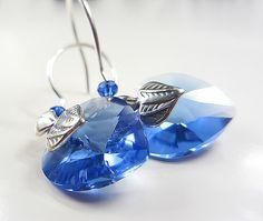 https://www.etsy.com/treasury/MTc4MzE5MjB8MjcyNTI2MzQ5Mg/blues-on-my-holiday-shopping-list Swarovski Light Sapphire Blue Heart Earrings Crystal by NataliaKh, $24.77