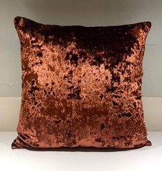 Copper Velvet Pillow Cover,18x18 Pillow Velvet,Copper Pillow, Designer Pillow, Velvet Pillows, Velvet Cushion Cover,Copper Sofa Pillow Copper Pillows, Velvet Cushions, Colour Board, Designer Pillow, House Colors, Decorative Pillows, Pillow Covers, Throw Pillows, Master Bedroom