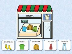 Las TIENDAS Paper Doll House, Paper Dolls, Fall Preschool Activities, Complete Sentences, Montessori Materials, Bingo, Spanish, Homeschool, Messages