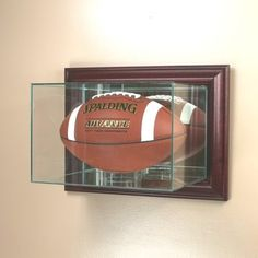 Wall Mounted Glass Football Display Case