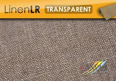 Linen LR - TRANSPARENT See Through, Base Coat, Linen Fabric