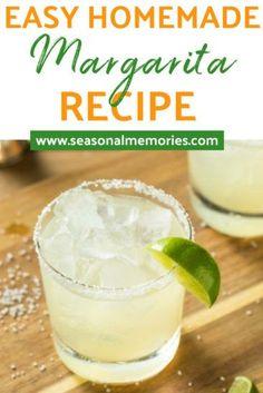 Pitcher Margarita Recipe, Classic Margarita Recipe, Easy Margarita Recipe, Perfect Margarita, Skinny Margarita, Jose Cuervo Margarita Mix Recipe, Frozen Margarita Recipes, Limeade Margarita, Cinco De Mayo
