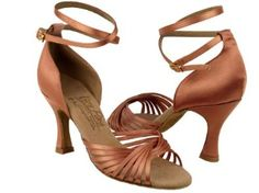 "Amazon.com: Ladies Women Ballroom Dance Shoes for Latin Salsa Tango Signature S1001 Tan Satin 3"" Heel: Shoes"