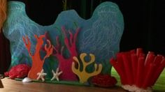 Under the Sea. I made 2 of these which reverse to greenery for the lagoon scene.
