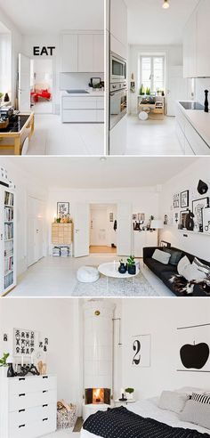 Not sure how practical such a clean, white space would be with kids, but we like!