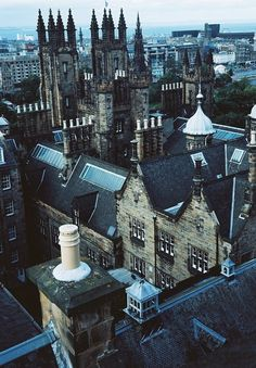 Roof Tops, Edinburgh, Scotland  Really like the blue-tint. Gotta try myself one of these days ...