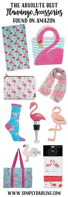 STOP what you are doing and check out this amazing list of Flamingo Accessories. Try to get through the list without adding a couple to your cart. Perfect summer accessories to add to your wardrobe or home decor.