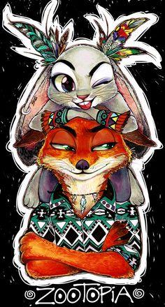 Zootopia - Nick Wilde x Judy Hopps - Wildehopps Disney Animation, Disney Pixar, Disney Fan Art, Disney And Dreamworks, Zootopia Comic, Zootopia Art, Nick Wilde, Disney Dream, Disney Love